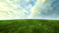 cloud and grass time lapse with green concept video