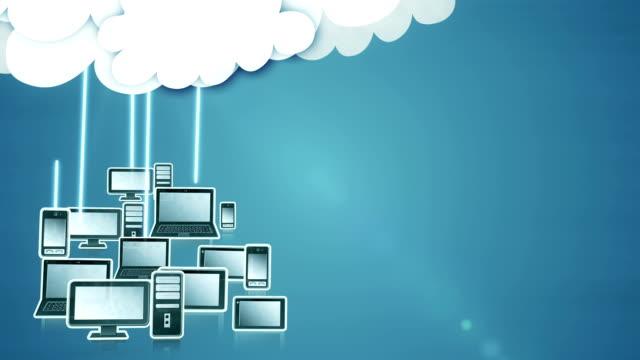 Cloud computing (dark blue) - Loop video