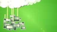 Cloud computing (green) - Loop video