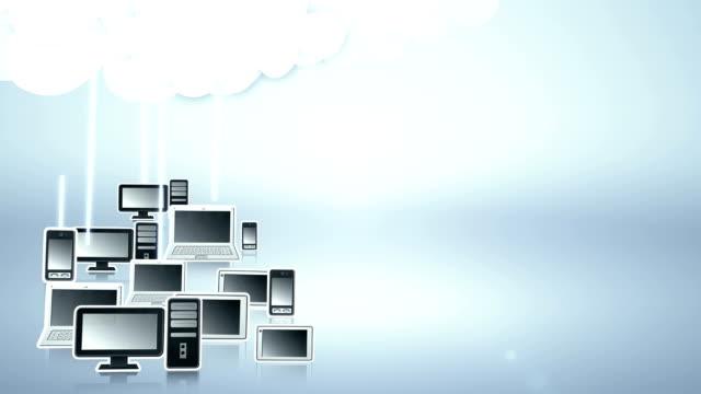 Cloud computing (light blue) - Loop video