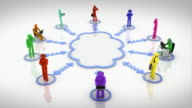 Cloud computing. Loopable. Multicolored. White background. video