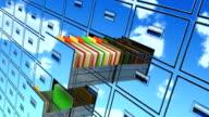 Cloud computing online backup video