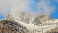 cloud flowing on Mountain video