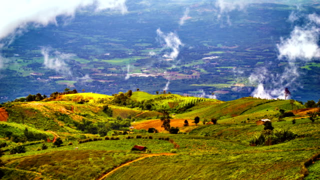 Cloud grow in mountain video