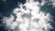 Cloud rapid flowing under the sun video