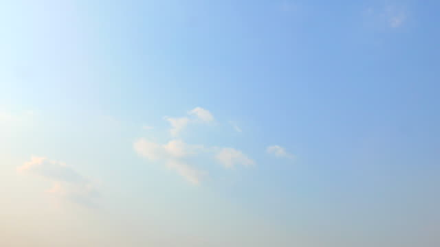 Cloud time lapse video