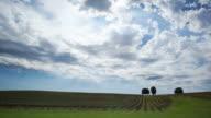 Cloudlapse over vineyard video