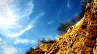 Clouds above the precipice. video
