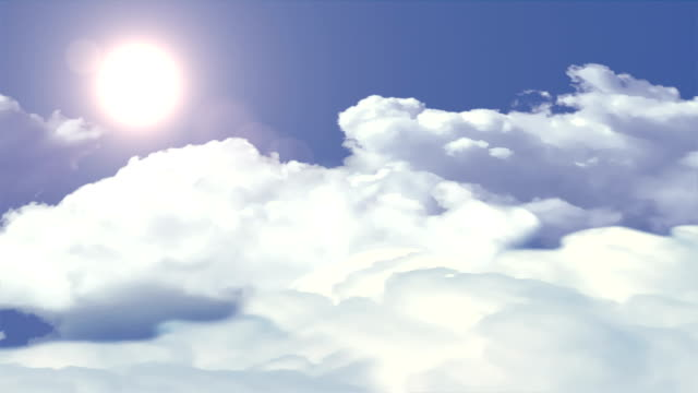 Clouds and sun loopable background. video