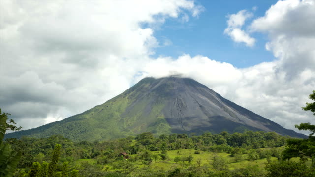 Clouds around volcano Arenal video