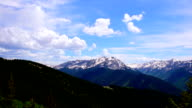 Clouds Building over Wide Angle Aspen Snowmass Colorado Rocky Mountain Valley Summer Time-lapse video