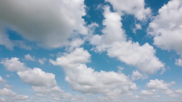 Clouds clear blue sky video