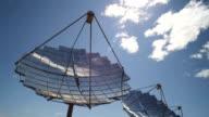 Clouds drift slowly over a solar farm. video