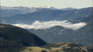Clouds Hanging In the Gallatin Range  - Aerial View - Montana, Park County, United States video