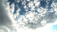 Clouds in Blue Sky Time Lapse HD video