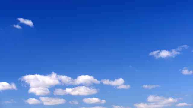 TIMELAPSE: Clouds in blue sky video