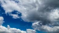 clouds in blue sky video