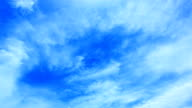 clouds in blue sky video