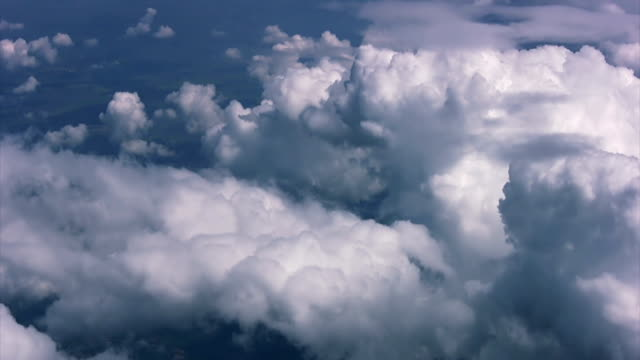 Clouds in the window plane video