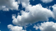 Clouds Moving in the Blue Sky video
