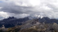 Clouds Moving Over Dolomites Mountains TL video