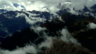 Clouds Moving Over Dolomites Mountains video