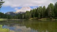 Clouds Moving Over Lago d'Antorno TL PAN video