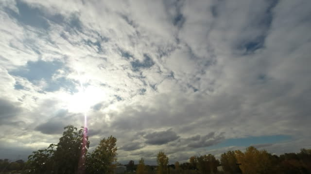 Clouds moving quickly through the sky Time Lapse video