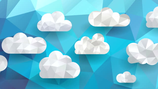 clouds on blue background video