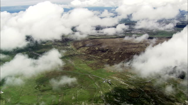 Clouds On Clare's East Coast  - Aerial View - Munster, Co Clare, Ireland video