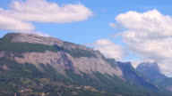 Clouds on the mountain range 4K video
