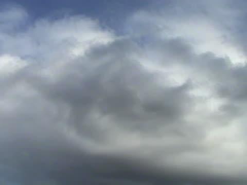 clouds over a blue sky video