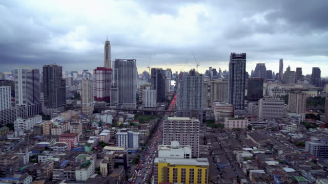 Clouds over city video
