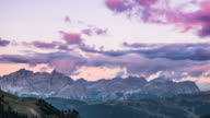 Clouds Over Dolomites Mountains video