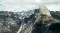Clouds over Half Dome in Yosemite National Park video