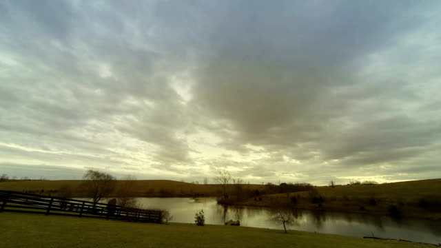 Clouds over lake video