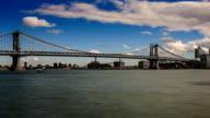 Clouds over Manhattan Bridge video