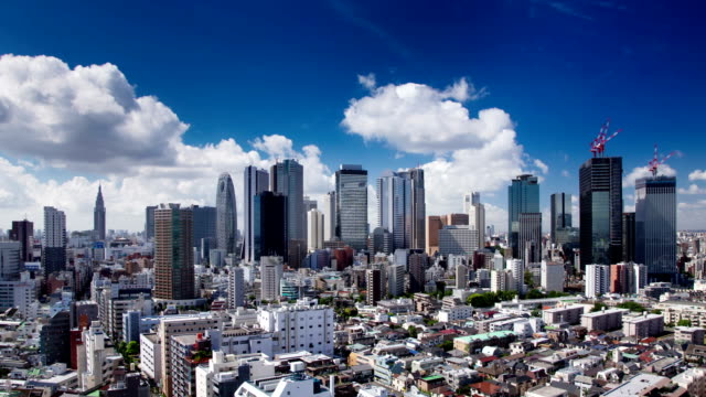 Clouds Over Shinjuku Time Lapse video