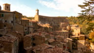 Clouds over Sorano. Time Lapse video