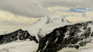 Clouds over Swiss Alps time-lapse. video