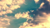 Clouds sky. Clouds sunset. Sunlight through clouds. Clouds timelapse video