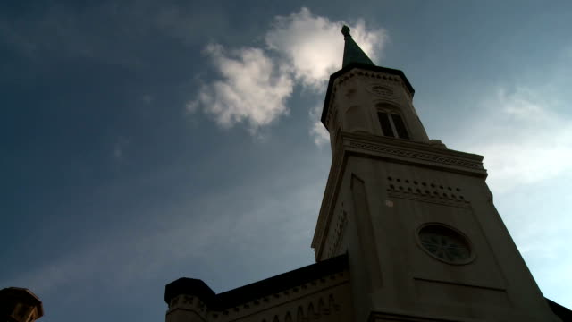 Clouds Time Lapse at Church video