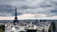 Clouds Time Lapse Over Paris France video