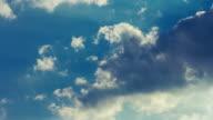 Clouds timelapse. Beautiful cloudscape. Clouds rolling on sky. Clouds sky video