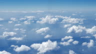 Clouds with sky from airplane window,Aerial view,Dolly shot video