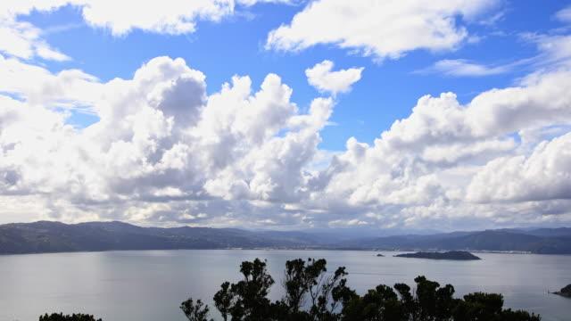 Cloudscape from Mount Victoria Overlooking Wellington New Zealand video