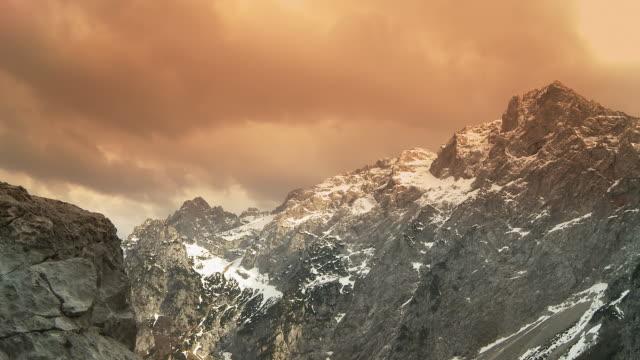 HD: Cloudscape Over European Alps video