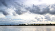 Cloudscape over the river in evening video