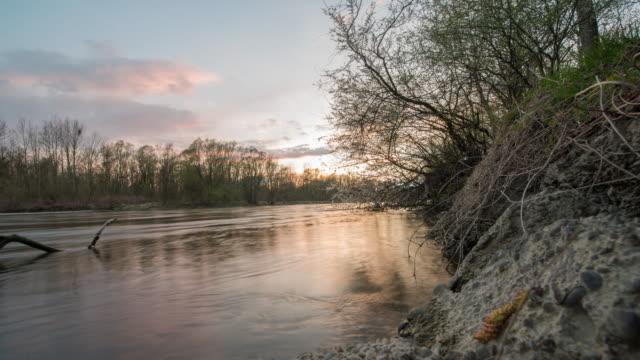 T/L Cloudscape over the river video