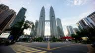 cloudscape time lapse of Kuala Lumpur city video